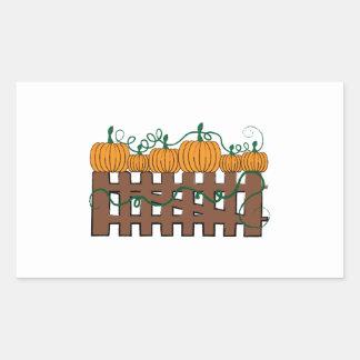 Pumpkin Fence Rectangular Sticker