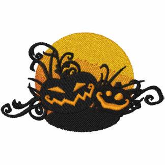 Pumpkin Filigree Embroidered Hooded Sweatshirt