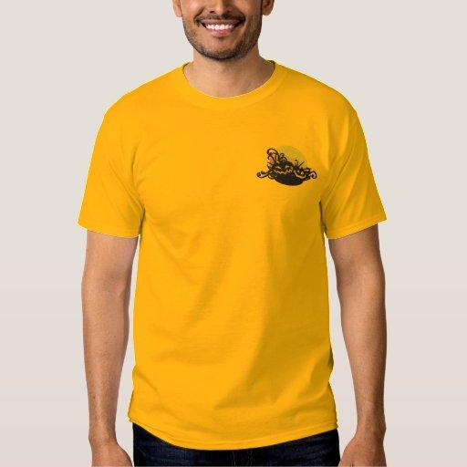 Pumpkin Filigree Embroidered T-Shirt