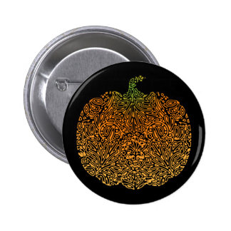 Pumpkin Filigree Pinback Button