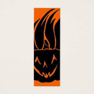 pumpkin flaming Halloween Bookmark Mini Business Card