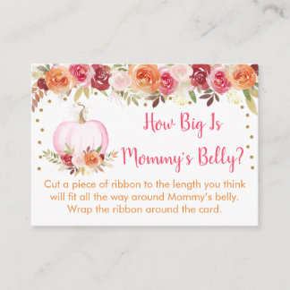 Pumpkin Floral How Big Is Mommy's Belly Game Enclosure Card