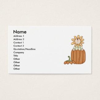 Pumpkin Flower Kid Business Card