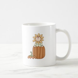 Pumpkin Flower Kid mug