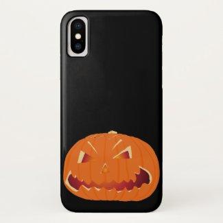 Pumpkin for Halloween 3 iPhone X Case