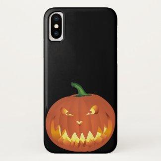 Pumpkin for Halloween 4 iPhone X Case