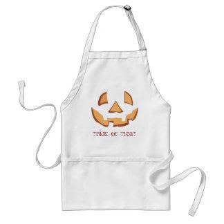 Pumpkin for Halloween in Black Adult Apron