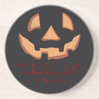 Pumpkin for Halloween in Black Coaster