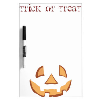 Pumpkin for Halloween in Black Dry-Erase Whiteboards
