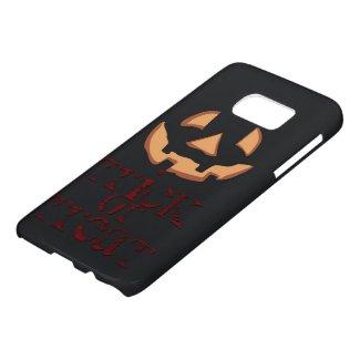 Pumpkin for Halloween in Black Samsung Galaxy S7 Case