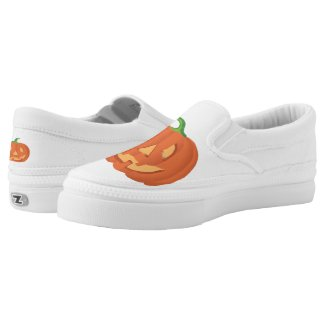Pumpkin for Halloween... Slip-On Sneakers