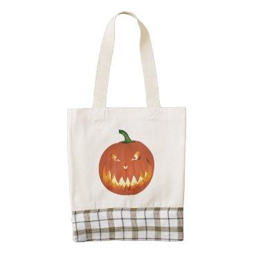 Pumpkin for Halloween... Zazzle HEART Tote Bag