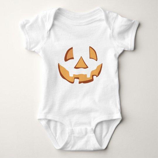Pumpkin for víspera de todos los santos en Black Body Para Bebé