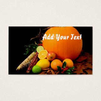 Pumpkin & fruit business card