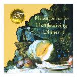 PUMPKIN ,FRUITS AND GLASSWARE Thanksgiving Dinner Invites