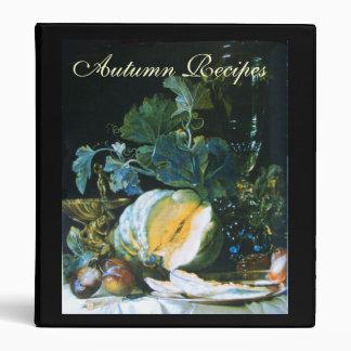 PUMPKIN ,FRUITS AND GLASSWARE Thanksgiving Recipe Binder