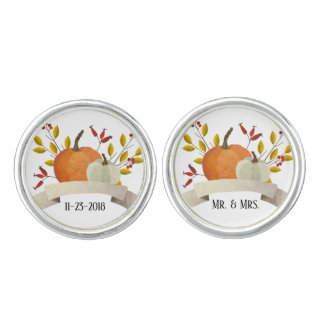 Pumpkin Fun / Thanksgiving Wedding / Cuff links