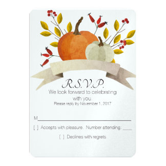 Pumpkin Fun/Thanksgiving Wedding/RSVP Invitation
