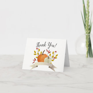 Pumpkin Fun/ Thanksgiving Wedding Thank You Card