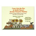 "Pumpkin Garden Invitation 5"" X 7"" Invitation Card"