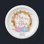 "Pumpkin Gender Reveal Party Paper Plates<br><div class=""desc"">Pumpkin Gender Reveal Party Paper Plates</div>"