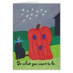 Pumpkin Ghost and Wizard Cat Halloween Cards