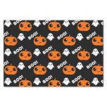 Pumpkin Ghost Halloween Pattern Tissue Paper