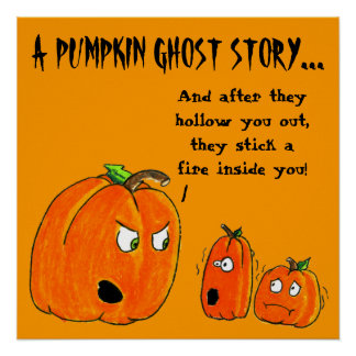 PUMPKIN GHOST STORY HALLOWEEN print