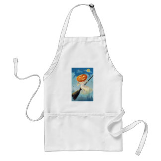 Pumpkin Ghost Witch Adult Apron