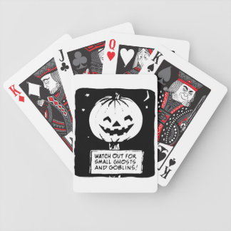 Pumpkin Ghosts and Goblins Playing Cards