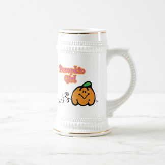 Pumpkin Girl Beer Stein