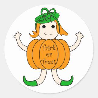Pumpkin girl - Sticker