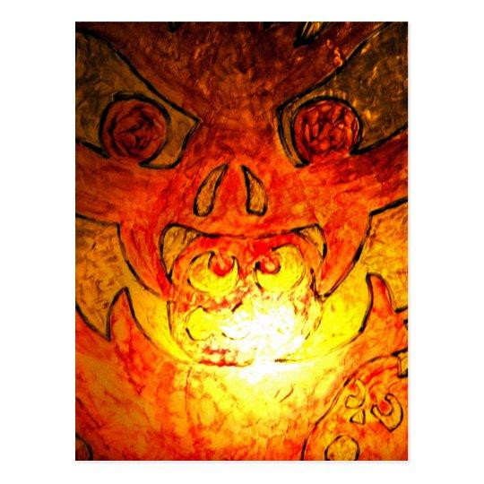 Pumpkin Glass Glow Postcard