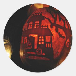 Pumpkin Glow Classic Round Sticker