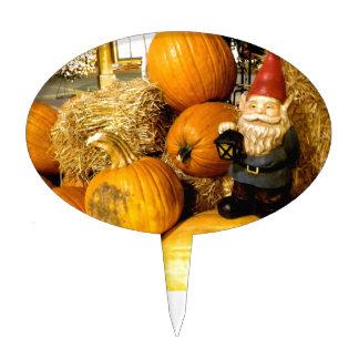 Pumpkin Gnome I Cake Topper
