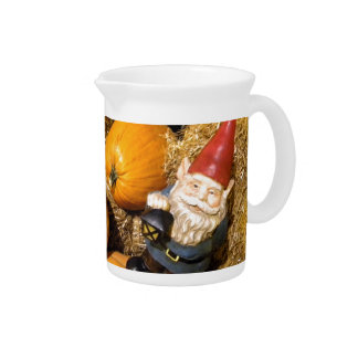 Pumpkin Gnome II Drink Pitcher