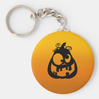 Pumpkin Goofy Basic Round Button Keychain