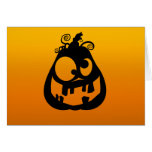 Pumpkin Goofy Greeting Card