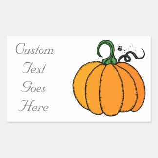 Pumpkin - Gourd, Squash, Halloween, Fall Rectangular Sticker