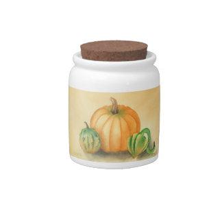 Pumpkin & Gourds Candy Dish