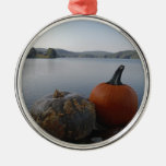 Pumpkin Gourds on  Lake Arrowhead at Dusk Christmas Ornament