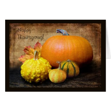 Beach Themed Pumpkin Gourds Still Life Card