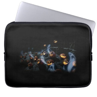 Pumpkin graveyard laptop sleeve