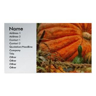 Pumpkin - Great Gourds Business Card