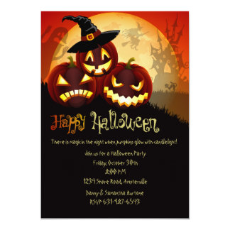 Pumpkin Grins Halloween Invitation