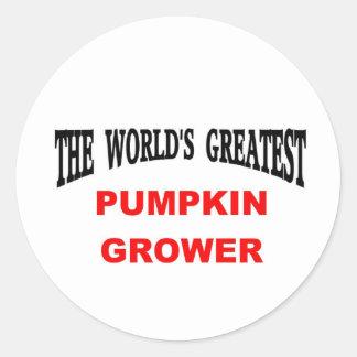 Pumpkin grower classic round sticker