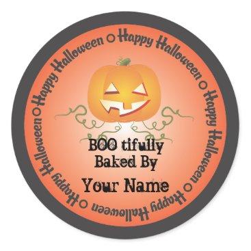 Halloween Themed Pumpkin Halloween Baked by Sticker