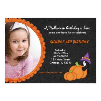 Pumpkin Halloween Birthday Card