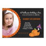 Pumpkin Halloween Birthday Invitations