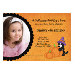 Pumpkin Halloween Birthday Personalized Invite